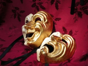 Comedy and tragedy set ( papier Mache') Can $ 120