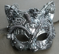 One-of-a-kind Cat Steampunk/Cyborg Mask $55 #1