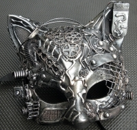 One-of-a-kind Cat Steampunk/Cyborg Mask $55 #2