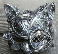 One-of-a-kind Cat Steampunk/Cyborg Mask $55 #3